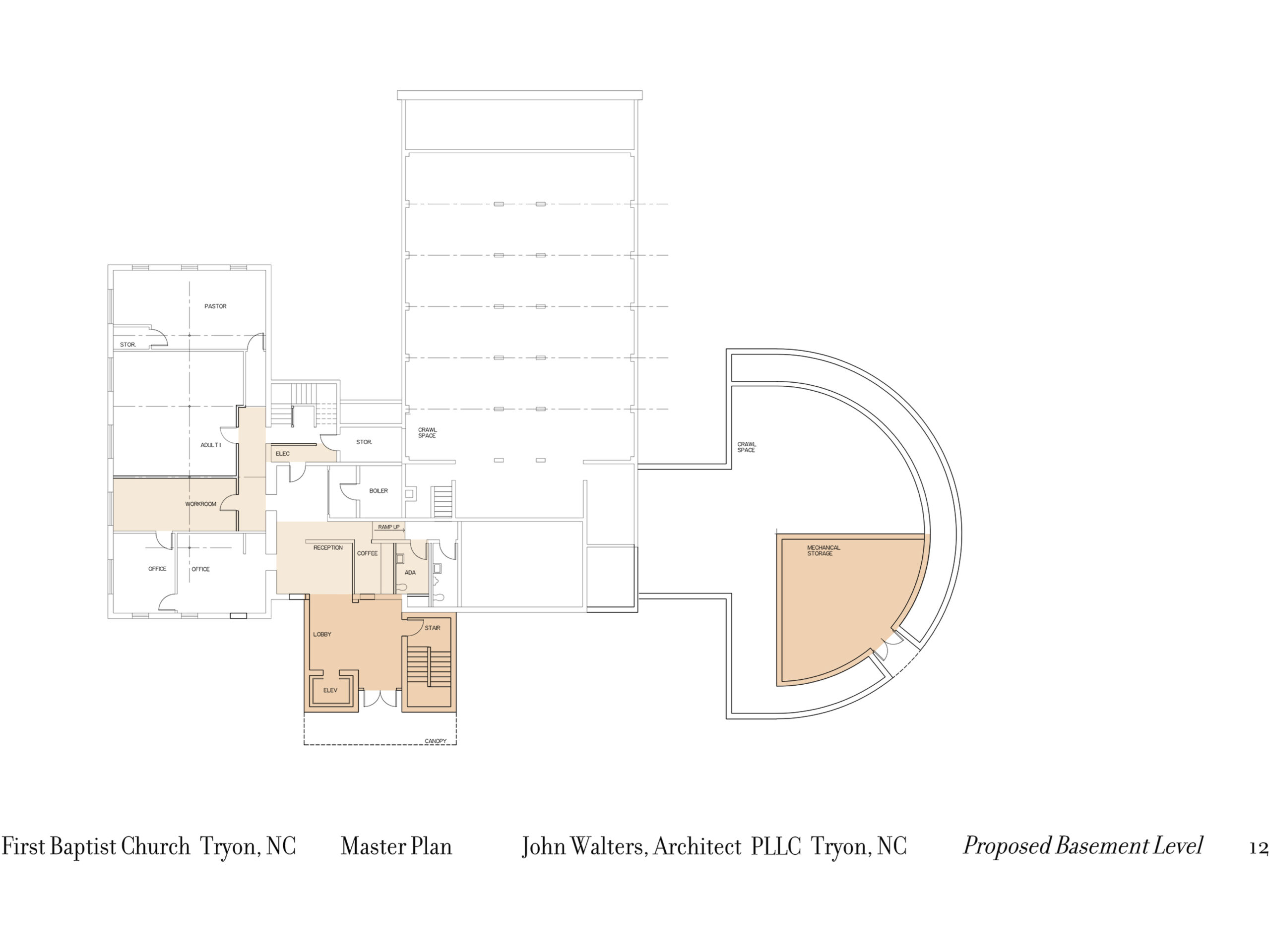 Lower level floor plan.