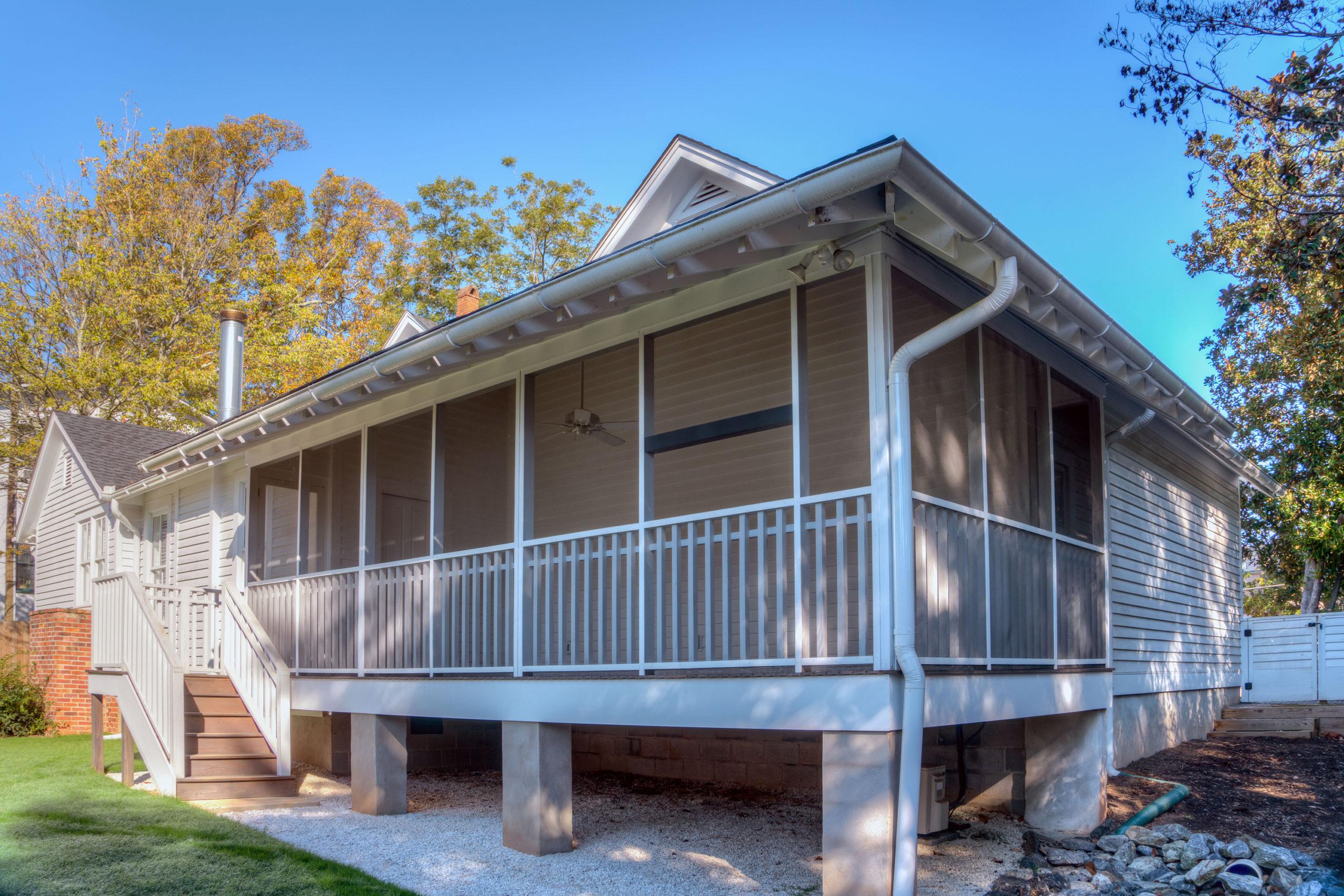 Rear porch addition