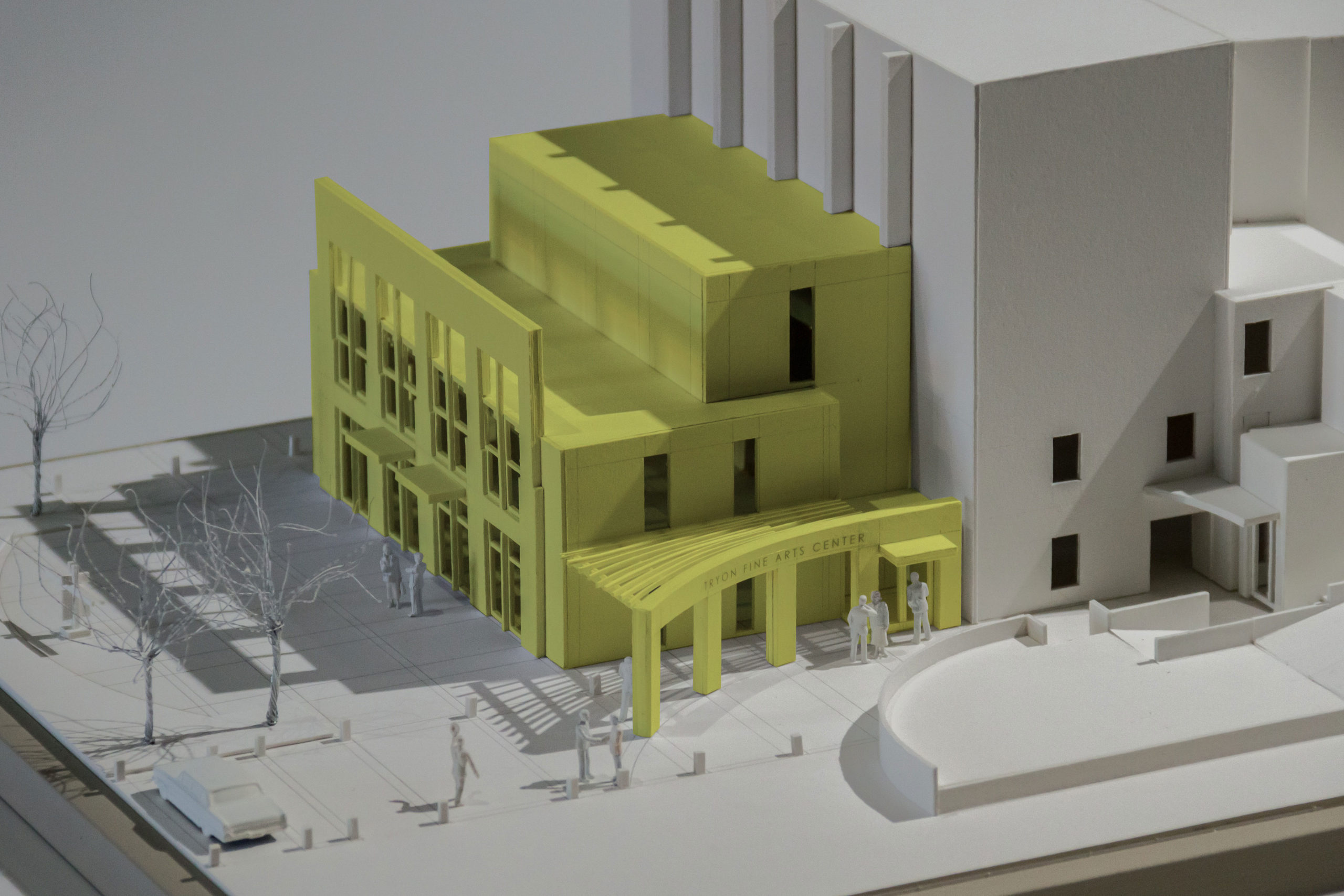 Photograph of model of the addition.