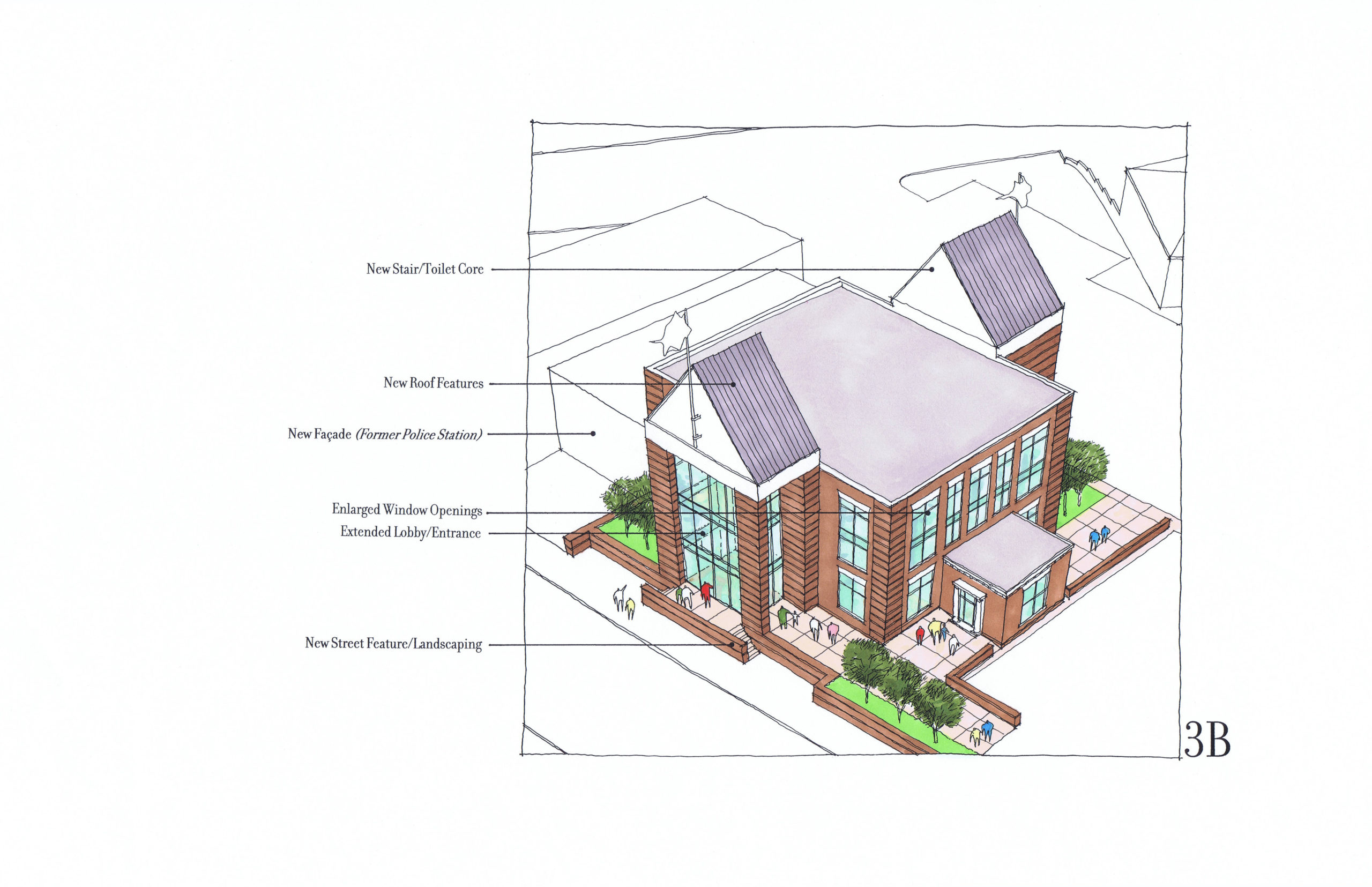 Rendering with two gable option.