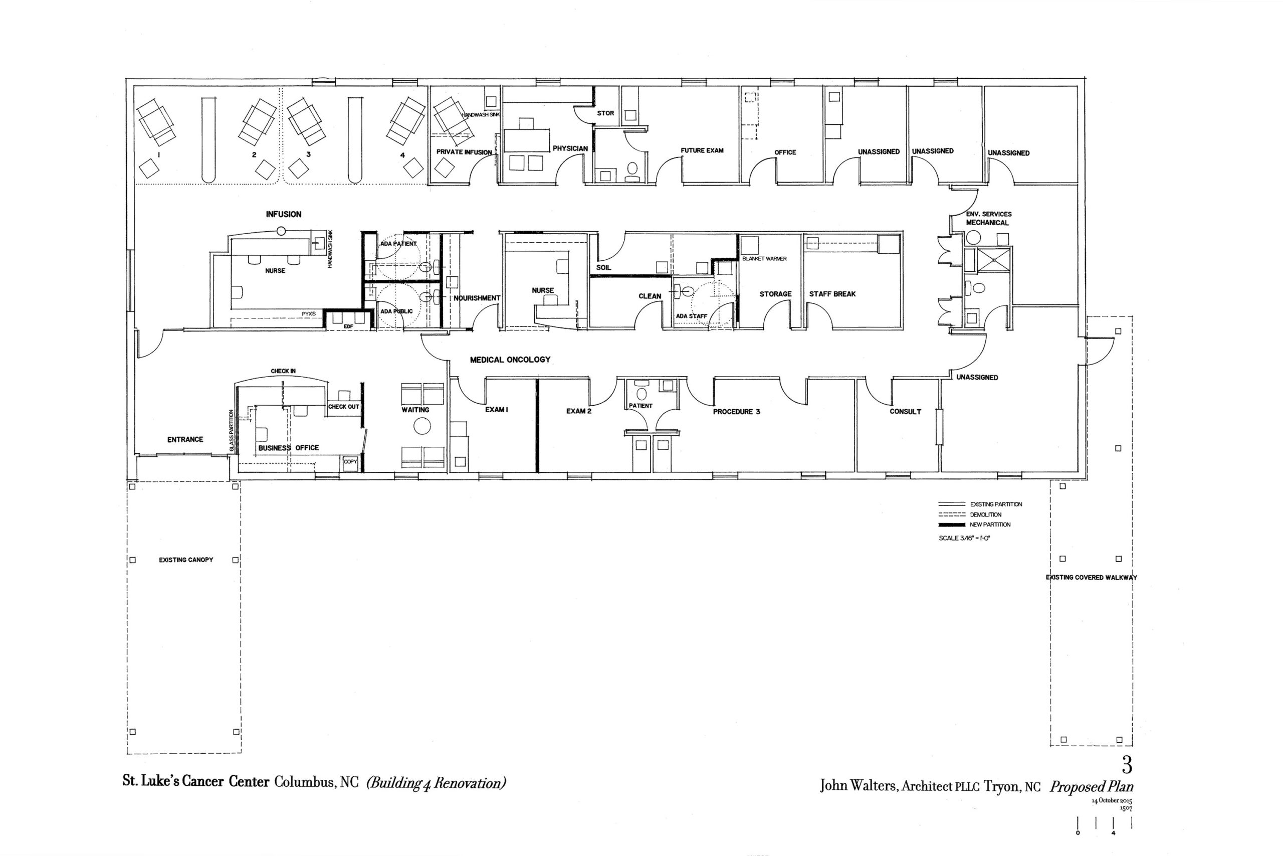 Floor plan of infusion center.
